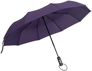 Automatic Open - Oversize Windproof Umbrella Double Canopy for Men Umbrella (Color : Purple)