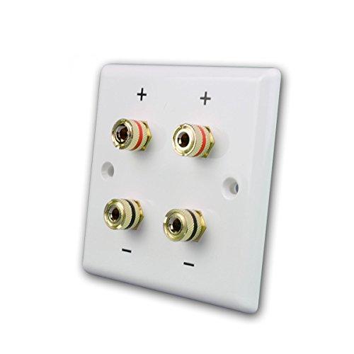 Dynavox Lautsprecher Wandblende 2-Fach, weiß für 2 Lautsprecher