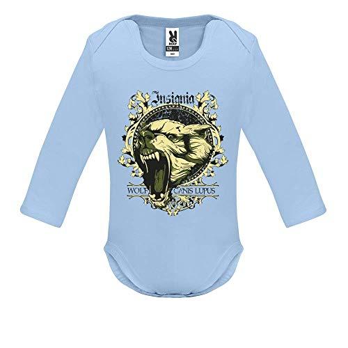 Body bébé - Manche Longue - Canis Lupus - Bébé Garçon - Bleu - 18MOIS