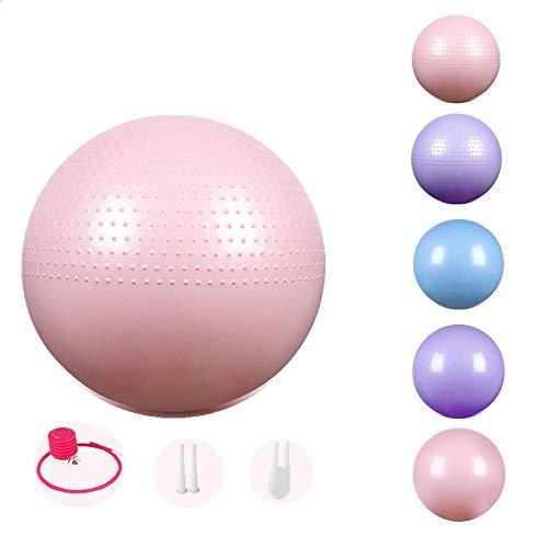 GSDJU Balón De Ejercicio con Bomba Anti-Burst Pelota De Ejercicio para Yoga Equilibrio Fitness Mejorar Postura Pelota Suiza
