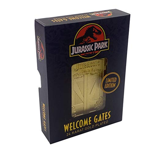 Difuzed Jurassic Park - Entrance Gates - 24K Gold Plated Metal Plate