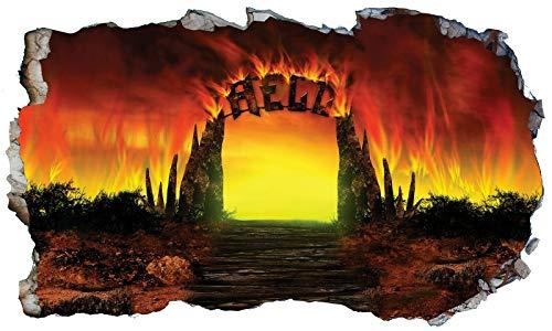 Chicbanners 3D-Wandtattoo, Motiv: Gates of Hell Hades Underworld V101, selbstklebendes Poster, Größe 1000 mm breit x 600 mm tief (groß)
