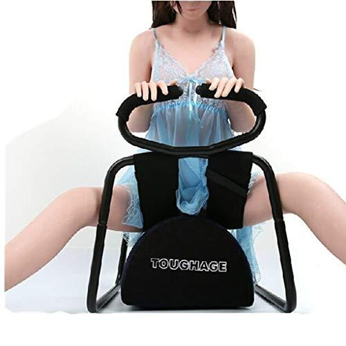 CJWWEI Fühlen Sie Sich wie die gleiche Multifunktionsstuhl Durable und Faltposition Enhancer Elastic Stuhl Möbel zusammenbauen leicht for Paare Halten bis zu 300 £-Schwarz