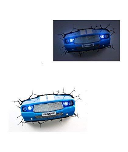 3D Deco Light Lampara LED decorativa de ambiente, Azul