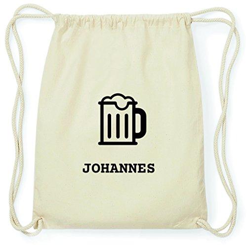 JOllify Turnbeutel - Happy Birthday - für Johannes - Bier Gruß