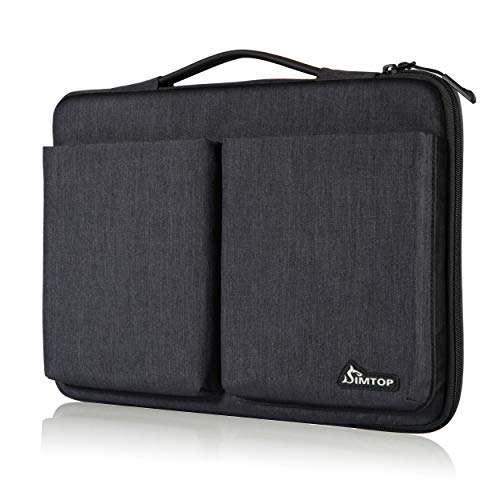 SIMTOP 14-15 Inch Laptop Sleeve Suitcase Hand Bag Compatible for 14 Lenovo Thinkpad Dell HP Chromebook,15' New Macbook Pro Touch Bar A1990/A1707,Waterproof Shockproof Laptop Case with Accessory Pocket