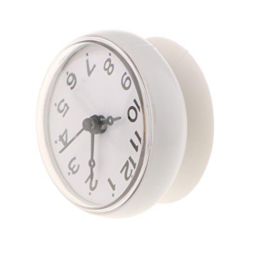 Wasserfeste Weiß Badezimmer Uhr mit Saugnapf - Duschuhr zum einfachen Aufhängen