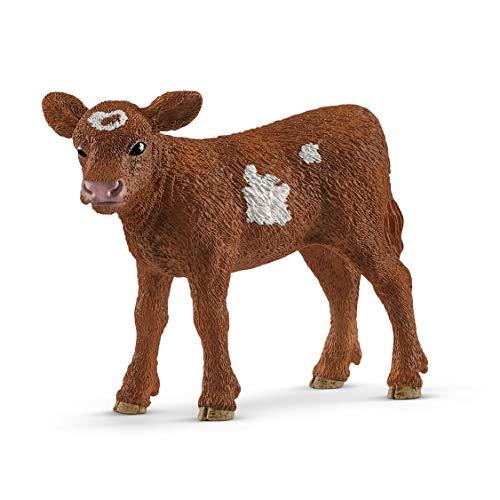 Schleich-Figura de Ternero tejano Longhorn, Colección Farm World, colores, 7 cm (13881)