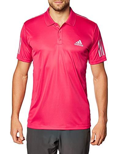 adidas Herren Club 3-Streifen Tennis Poloshirt Power Pink, L