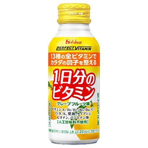 ハウスウェルネスフーズ パーフェクトビタミン 1日分のビタミン グレープフルーツ味 ボトル缶 120ml×30本入【×2ケース:合計60本】