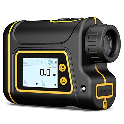 Clothes Telemetro Laser da Golf/Golf Rangefinder, preciso Tester di Distanza 6X monoculare Laser Range Finder con Scan, Nebbia, velocità, Distanza di Misura, 1000M (Size : 1500M)