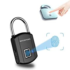1. 0.5s Quick Unlock. With the intelligent fingerprint reader, it takes less than 0.5s to Unlock the lock with your fingerprint. Your fingerprint is the Key, you will never need to worry about forget to bring or lose the key, forget the password like...