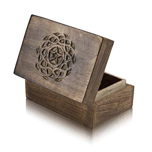 Great Birthday Gift Ideas Handmade Decorative Wooden Jewelry Box Treasure Box Jewelry Organizer Keepsake Box Treasure Chest Trinket Holder Lock Box Watch Box 6 x 4 Inch Anniversary Gifts Her Louisiana