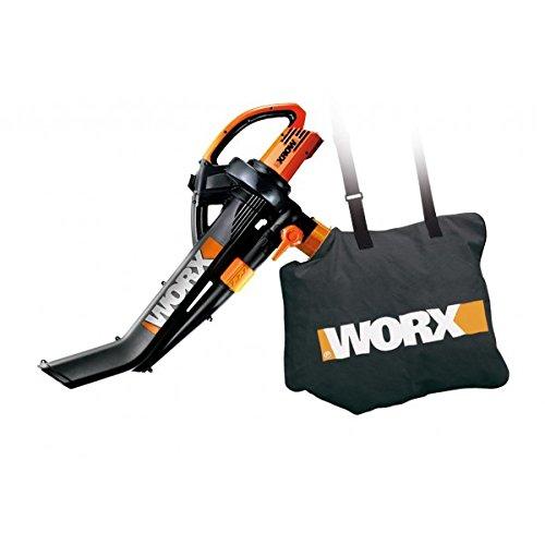 Worx Soffiatore Aspiratore Trituratore Elettrico WG505E - 335 Km/h -