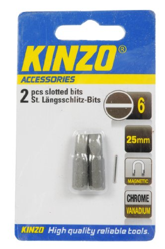 Kinzo Bit 6mm (2) 25mm magnet crv