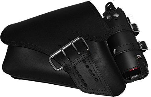 La Rosa Design 04-UP Harley Davidson Sportster/Nightster/883 Iron/XL1200 Left Side Saddle Bag /Swingarm Bag with Fuel Bottle