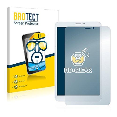 BROTECT Protector Pantalla Compatible con Mediacom SmartPad 8.0 S2 4G Protector Transparente (2 Unidades) Anti-Huellas
