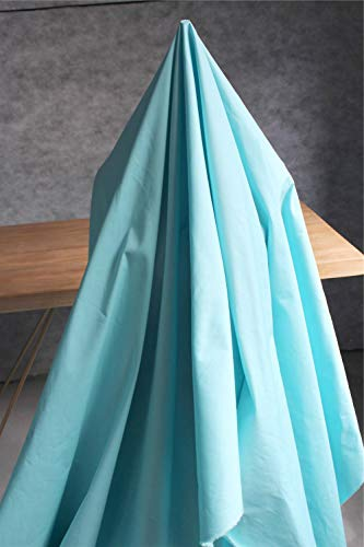 JKLAQ Telas por Metros para Vestidos- Chaqueta De Algodón Elástico con Gabardina De Tela, Azul (0,5 M)