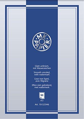 Baier & Schneider Briefpapierblock Briefblock MK, A5, weiß, 40 Stück