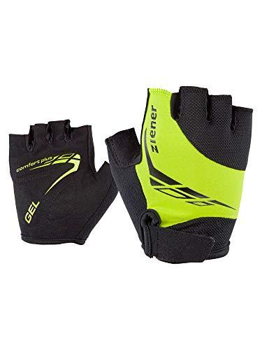 Ziener Kinder CANIZO Fahrrad-, Mountainbike-, Radsport-Handschuhe | Kurzfinger - atmungsaktiv/dämpfend, lime green, M