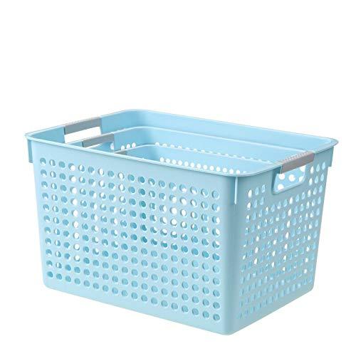 N / A Canasta de Almacenamiento de artículos Diversos Canasta de Almacenamiento de plástico Canasta de baño Mesa de Cocina Organizar Caja de Almacenamiento Rectangular para Aperitivos S 28x18x14