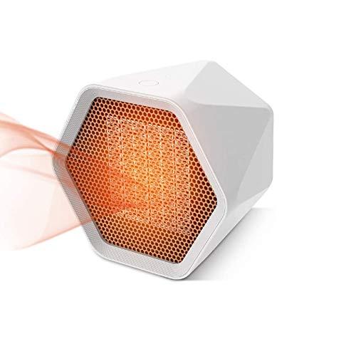 Wgwioo Calentador de Espacio eléctrico portátil con termostato, Ventilador de Calentador Personal Interior de 600 W con calefacción de cerámica, para Oficina en casa