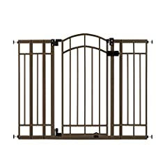 """ACCOMODATES MOST OPENINGS: The Summer Multi-Use Decorative Extra Tall Walk-Thru Gate for Baby can be used between doorways and stairways. The 36"""" tall baby gate fits openings up 28.5"""" to 48"""" wide. EASY INSTALLATION: Easily install this baby gate on s..."""