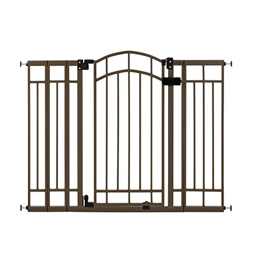"Summer Multi-Use Decorative Extra Tall Walk-Thru Baby Gate, Metal, Bronze Finish – 36"" Tall, Fits Openings up to 28.5"" to 48"" Wide, Baby and Pet Gate for Doorways and Stairways"