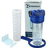 10 Zoll Wasserfilter Anschluss 1' Vorfilter Nachfilter für Hauswasserwerk GartenPumpen Hauswasserleitung Schmutzfilter Sandfilter