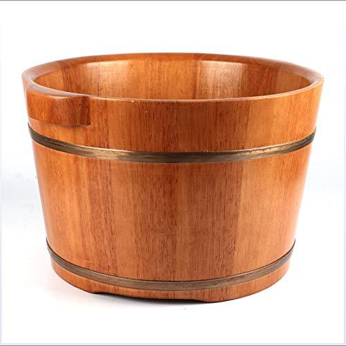 Massagers voet bad vat waterdicht en corrosiebestendig huishouden dikke massief hout wastafel massief eiken vat