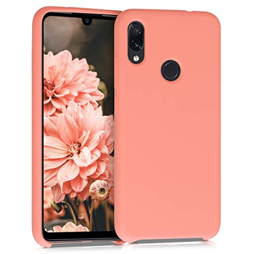 kwmobile Funda Compatible con Xiaomi Redmi Note 7 / Note 7 Pro - Carcasa de TPU para móvil - Cover Trasero en Coral Mate