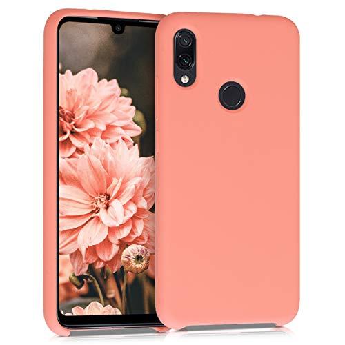 kwmobile Funda para Xiaomi Redmi Note 7 / Note 7 Pro - Carcasa de TPU para teléfono móvil - Cover Trasero en Coral Mate