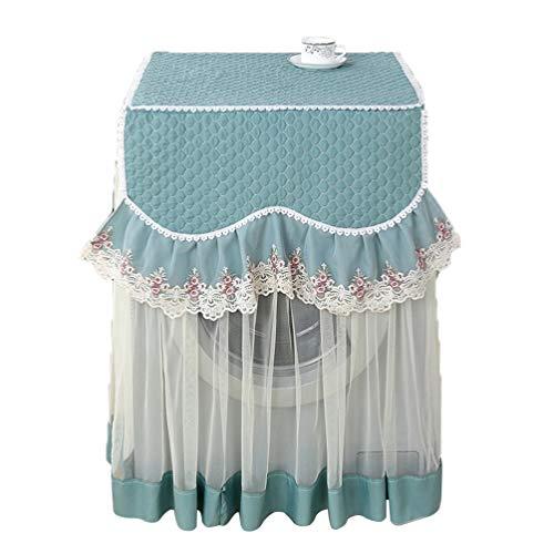 Garneck Waschmaschine Abdeckung Wasserdicht Lace Blume Staubschutz Roller Sonnenschutz-Abdeckung für Wärmepumpentrockner Frontlader Wäschetrockner 60x60x87cm (Himmelblau)