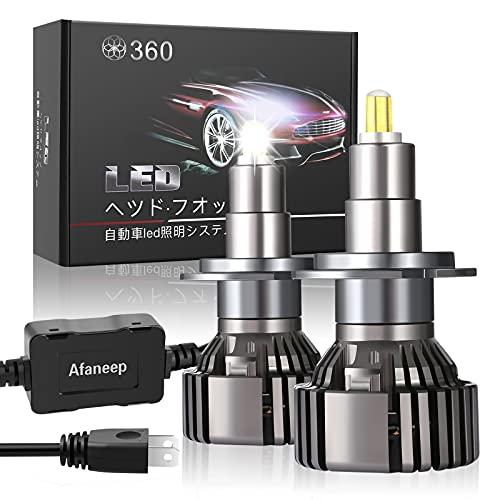 H7 LED, Afaneep 16000LM 72W Bombilla H7 LED Canbus Kit 36 SMD 360° Chips Sin Polaridad Faros Reemplazo de Halógena y Kit Xenón IP65 - Garantía de 2 años