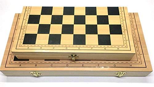 MWKLW Staunton Conjunto de xadrez 2 em 1 dobrável com tabuleiro magnético com armazenamento interno dobrável, jogo de xadrez para viagem