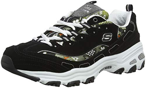 Skechers D'LITES-Floral Days 13082, Zapatillas para Mujer, Negro...