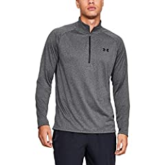 UA Tech fabric is quick-drying, ultra-soft & has a more natural feel Material wicks sweat & dries really fast Anti-odor technology prevents the growth of odor-causing microbes Generous ½ zip front makes for easy layering New, streamlined fit & shaped...
