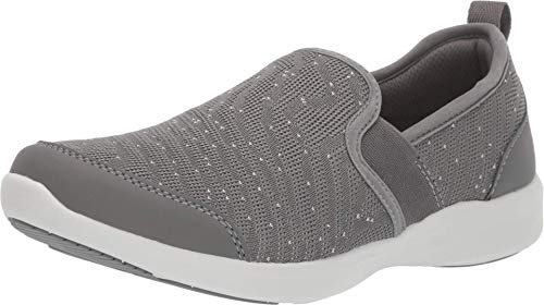 Vionic Women's Sky Roza Slip-on Sneakers - Ladies Walking Shoes with Concealed Orthotic Arch Support Grey 8.5 M US