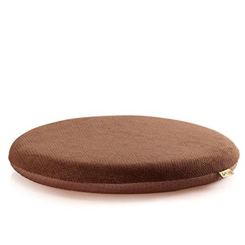 OSHDKSLDS Coton de mémoire Anti-dérapant Tour Bureau Coussin Plus épais à Manger Coussins de Chaise-C diamètre42cm(17inch)