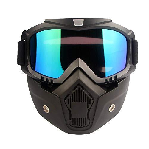 SEALEN Máscara de Gafas de Motocicleta, Antivaho Desmontable a Prueba de Viento Gafas de Esquí de Nieve, Gafas de Sol con Casco de Protección para Esquiar en Motocicleta Actividades al Aire Libre