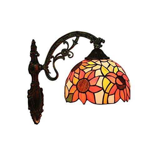 Eclairage mural Chambre Couloir intérieur Café-un verre Foil traditionnel Cuivre Handcut Pièces Occasions spéciales Abat Reflète Métal Verre + Lampes murales (Size : A)