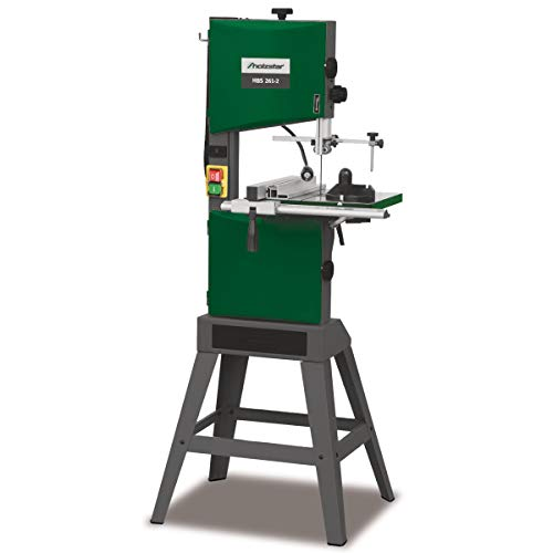 Holzstar Holzbandsäge HBS 261-2 (schwenkbarer Arbeitstisch 45°, Aluminium Parallelanschlag, inkl. Sägeband, LED-Arbeitsleuchte, Schiebestock) 5902426