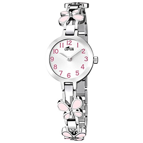 Lotus Reloj Analógico para Niñas de Cuarzo con Correa en Acero Inoxidable 15829/2