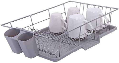 Dish Drainer Drain Board and Utensil Holder Simple Easy to Use