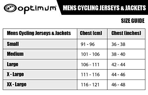 Optimum Men Hawkley Cycling Stowaway Jacket, Red, Small