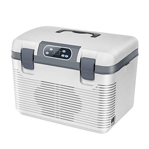 LXYZ Refrigerador de Coche 19L 12V DC 220V AC Refrigerador eléctrico de Doble núcleo Refrigerador frío y cálido Viajar y Acampar