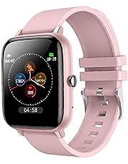 Smart Horloge Waterdichte Sport Smartwatch Hartslag Tracking Apparaat Armband Horloge Roze Professionele Ontwerp