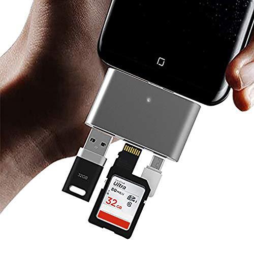 Melesplus USB C OTG Card Reader,USB 3.1 Type C OTG Memory Card Reader Adapter SD TF Dual Slot for MacBook,Samsung S9 S8 Plus Note 9 8,Google Pixel XL 2XL,LG V20 V30 G5 G6 G7,Nexus 5X 6P(Grey)