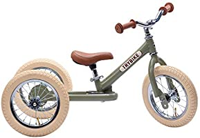 Trybike Steel Green 2 in 1 Convertible Balance Bike and Tricycle for 1