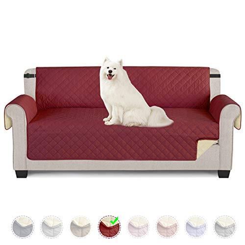 TAOCOCO Funda de sofá Impermeable Funda de cojín de protección para Mascotas Funda de sofá antisuciedad (Rojo/ 3 Plazas 165 * 190cm)